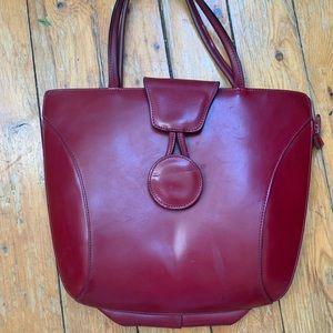Handbags - Vintage red leather bag